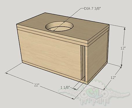 "Sundown Audio SA Series 8"" Design Sub up Port Forward"