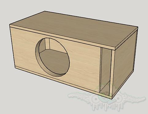 """Skar Audio DDX 12"""" Subwoofer Box  Sub and Port Forward"""