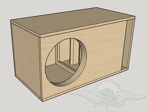 """Wolfram Audio AU 15"""" sub and port forward design"""