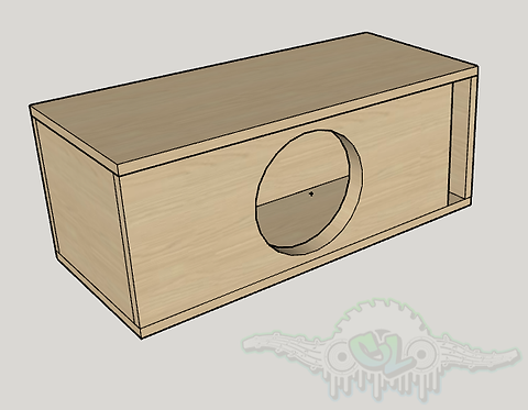 """Skar Audio DDX 10"""" Design Sub and Port Forward"""