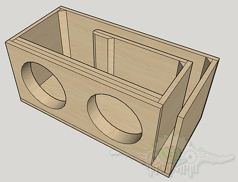 "2 Soundqubed HDC3 10"" Sub and Port Forward Design"