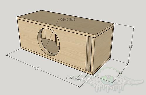 "Dc Audio Lvl 1 10"" Subwoofer Box Sub and Port Forward"