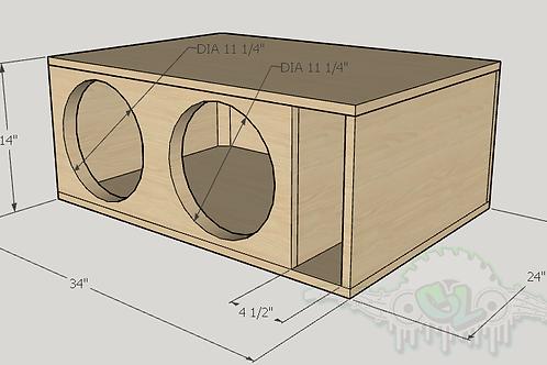 """2 Skar Audio DDX 12"""" Design Sub and Port Forward"""