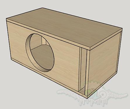 "Skar Audio EVL-12 12"" Sub and Port Forward Design"
