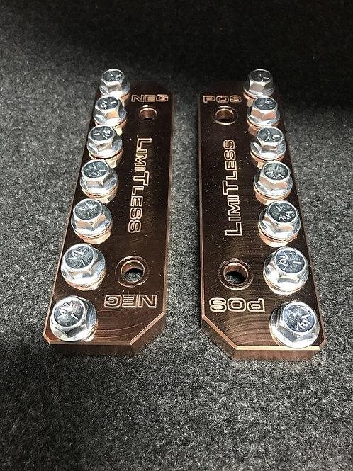 Limitless Lithium Lug style Buss Bars 45AH COPPER
