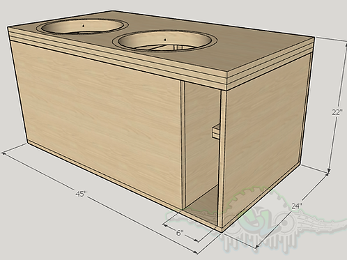 2 Sundown Audio ZV5 15s Sub up Port Back Design