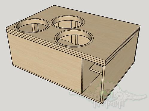 "3 Skar Audio EVL 15"" Sub up Port Forward Design"