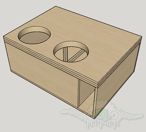 "2 Skar Audio ZVX 12"" Subwoofer Box Sub up Port Forward"