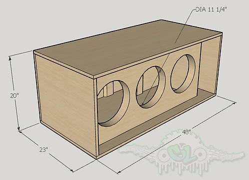"3 Skar Audio EVL 12"" Subwoofer Box Sub and Port Forward"