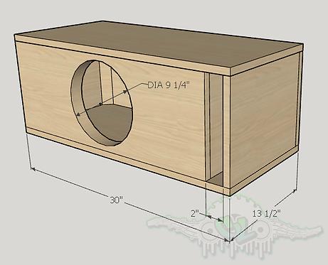"""Skar Audio DDX 10"""" Subwoofer Box  Sub and Port Forward"""