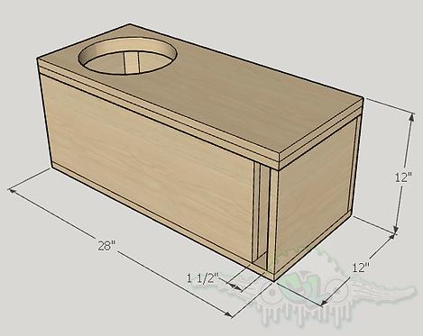 "Dc Audio Lvl 1 10"" Subwoofer Box Sub up Port Forward"