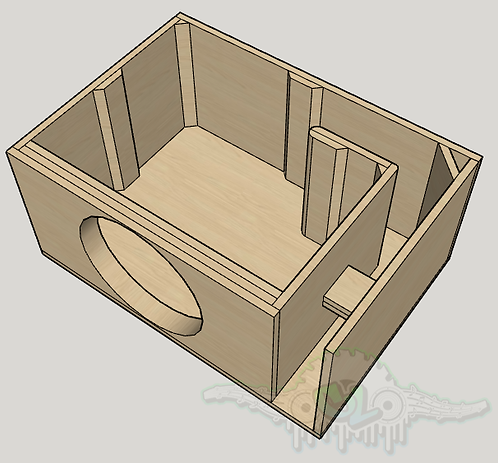 "Fi Audio BTL-4 15"" Subwoofer Box  Sub and Port Forward"