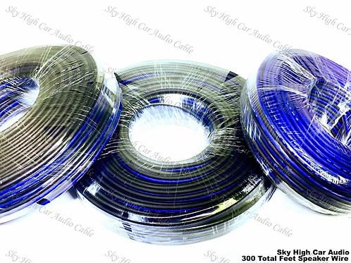 100' feet EACH 14 16 & 18 Gauge AWG 300' Speaker Wire 100' feet EACH 14 16 & 18