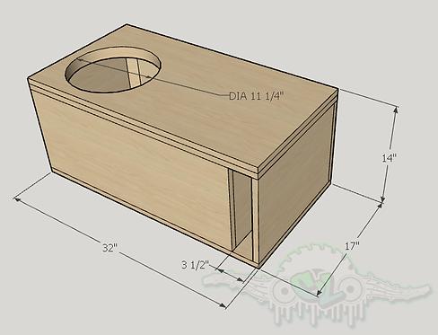 "Skar Audio DDX 12"" Design Sub up Port Forward"