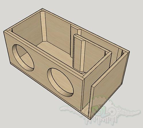 """2 Skar Audio DDX 10"""" Design Sub and Port Forward"""