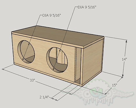 "2 Dc Audio Lvl 1 10"" Subwoofer Box Sub and Port Forward"