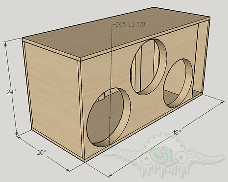 """3 Resilient Sounds RS 15"""" Subwoofer Box  Sub and Port Forward"""