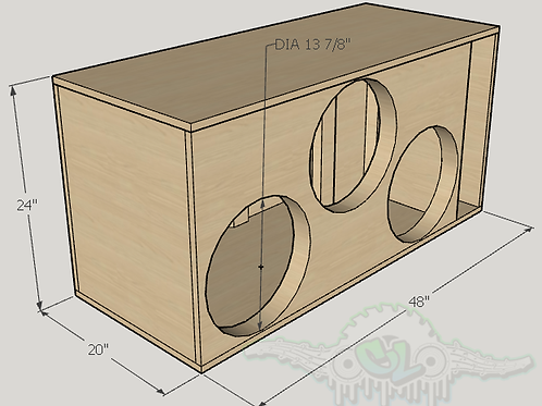 """3 Resilient Sounds RS 15"""" Subwoofer Enclosure  Sub and Port Forward"""