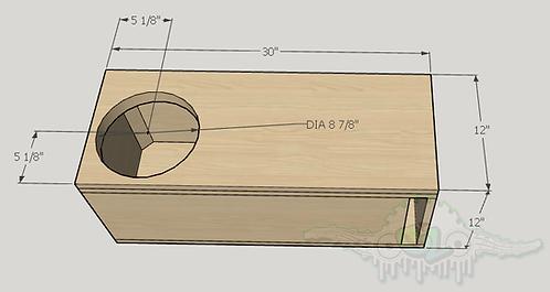"Sundown Audio E Series 10"" Design Sub up Port Forward"