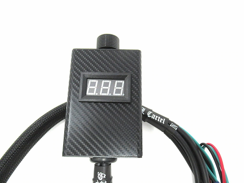 SPL CARTEL SINGLE HAND HELD BASS KNOB WITH VOLTMETER AND 2' PRO LEADS