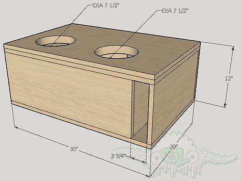 "2 Skar Audio ZVX 8"" Sub up Port Forward Design"
