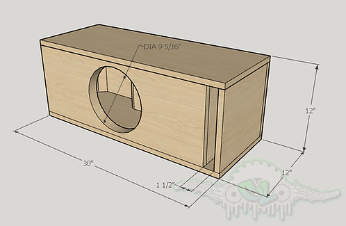 "Dc Audio Lvl 1 10"" Design Sub and Port Forward"