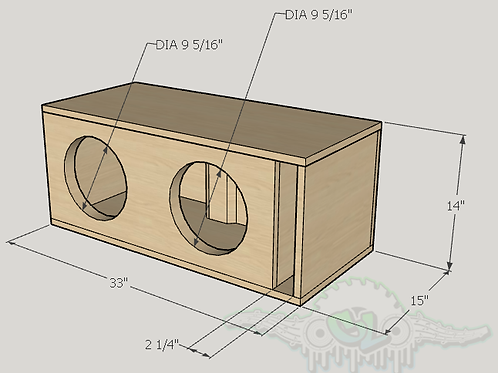 "2 Dc Audio Lvl 1 10"" Design Sub and Port Forward"