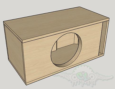 "Skar Audio EVL-12 12"" Subwoofer Box Sub and Port Forward"