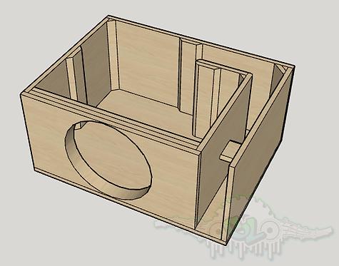 "Skar Audio ZVX 15"" Sub and Port Forward Design"