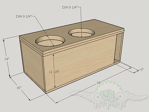 "2 Skar Audio DDX 10"" Design Sub up Port Forward"