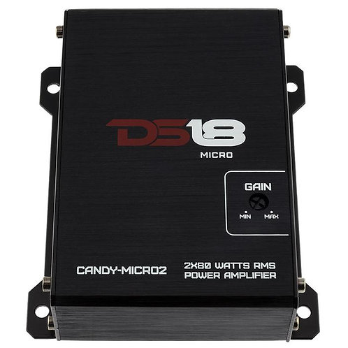 Ds18 CANDY-MICRO2 FULL RANGE CLASS D 2 CHANNEL AMPLIFIER 800 WATTS WITH AUX INPU