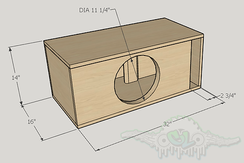 "Skar Audio DDX 12"" Design Sub and Port Forward"