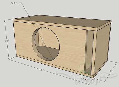 """Pioneer Premier TS 12"""" Subwoofer Box Sub and Port Forward"""