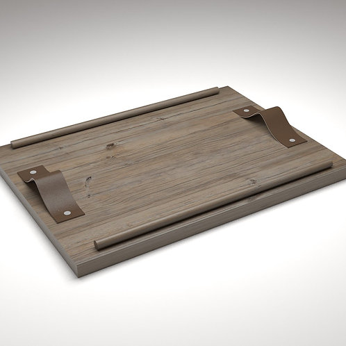 Handcrafted Large Wooden Tray - JANAPINE Collection