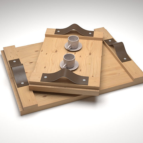 JANAPINE Handcrafted Natural Wooden Tray