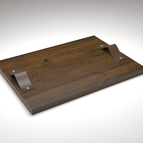 JANAPINE Handcrafted Large Wooden Tray