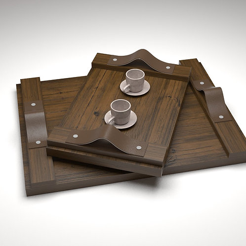 Handcrafted Wooden Tray - JANAPINE Collection