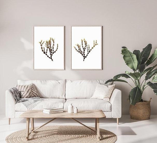 Seaweed Print Set - Set of 2