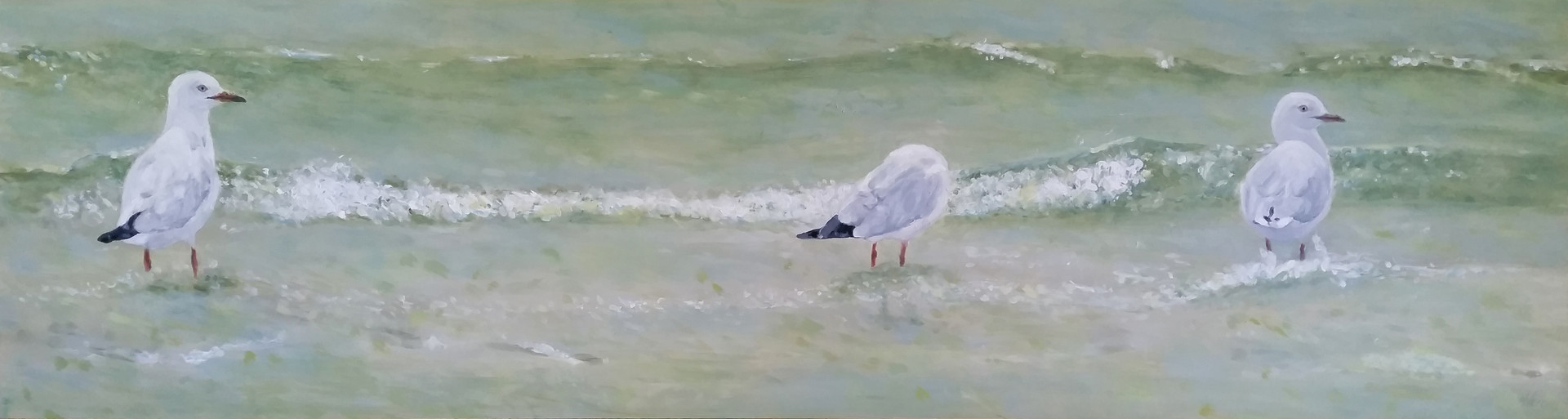 coastal painting | On Patrol  | beach house art | Naomi Veitch