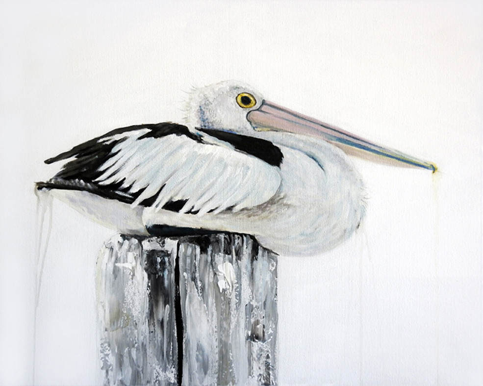 pelican print keeping-the-post-painting.