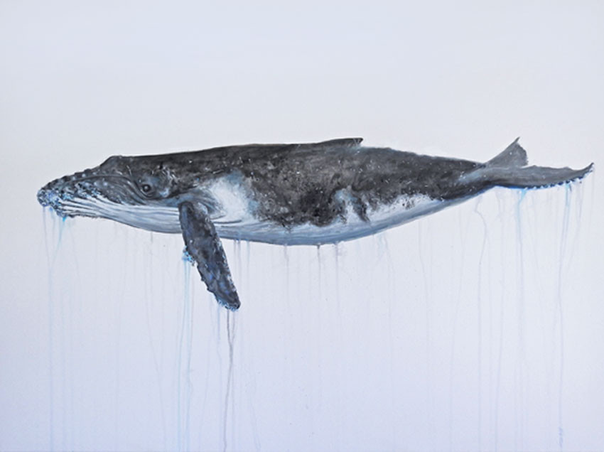 Whale Painting | beach house art