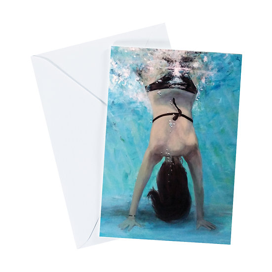 Underwater Handstand Greeting Card