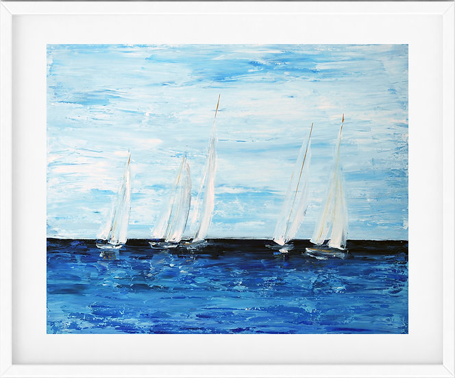 Sailing Boat - limited edition print 2/100