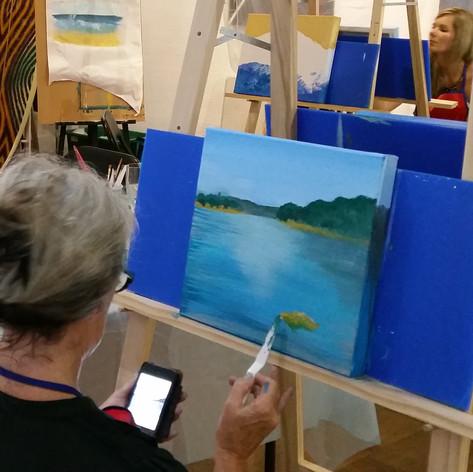 learn to paint coastal art