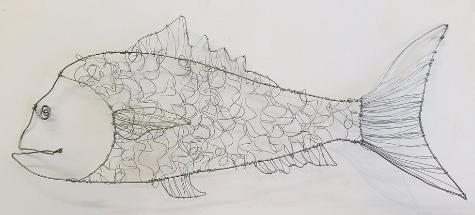 Fish Wire Sculpture