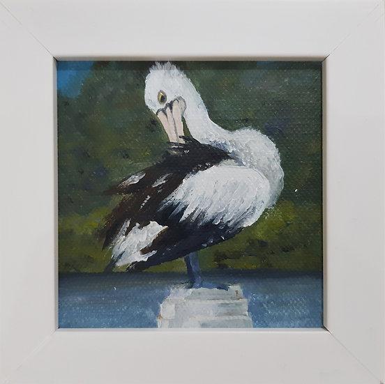Australian Pelican Painting - Mini 4