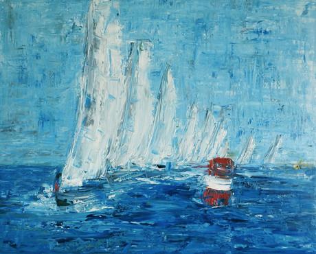sailing boat painting sold