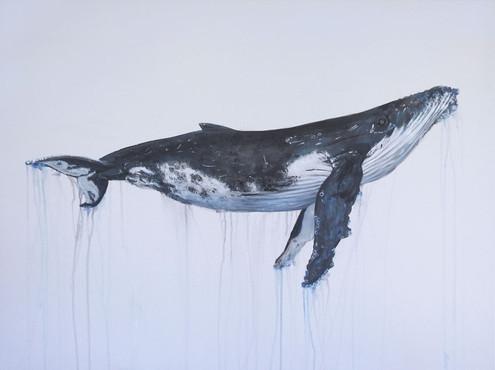 Humpback whale Painting | beach house art