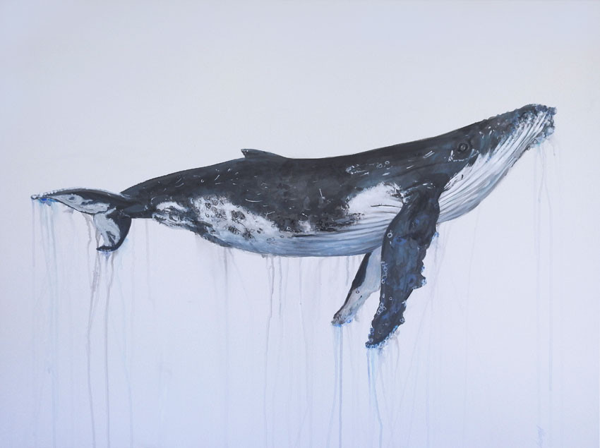 Humpback whale Painting | beach house art