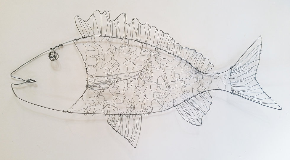 Fish Wire Sculpture